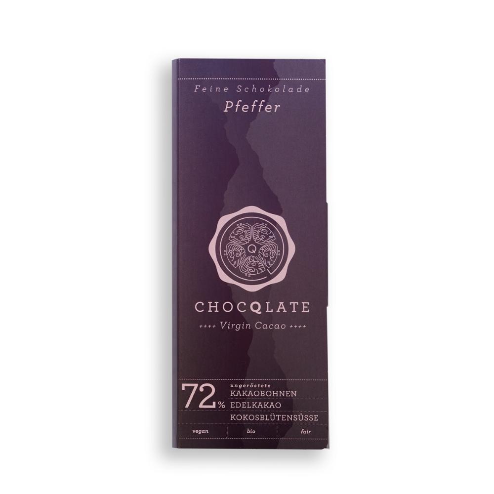 Virgin Cacao Schokolade Pfeffer BIO