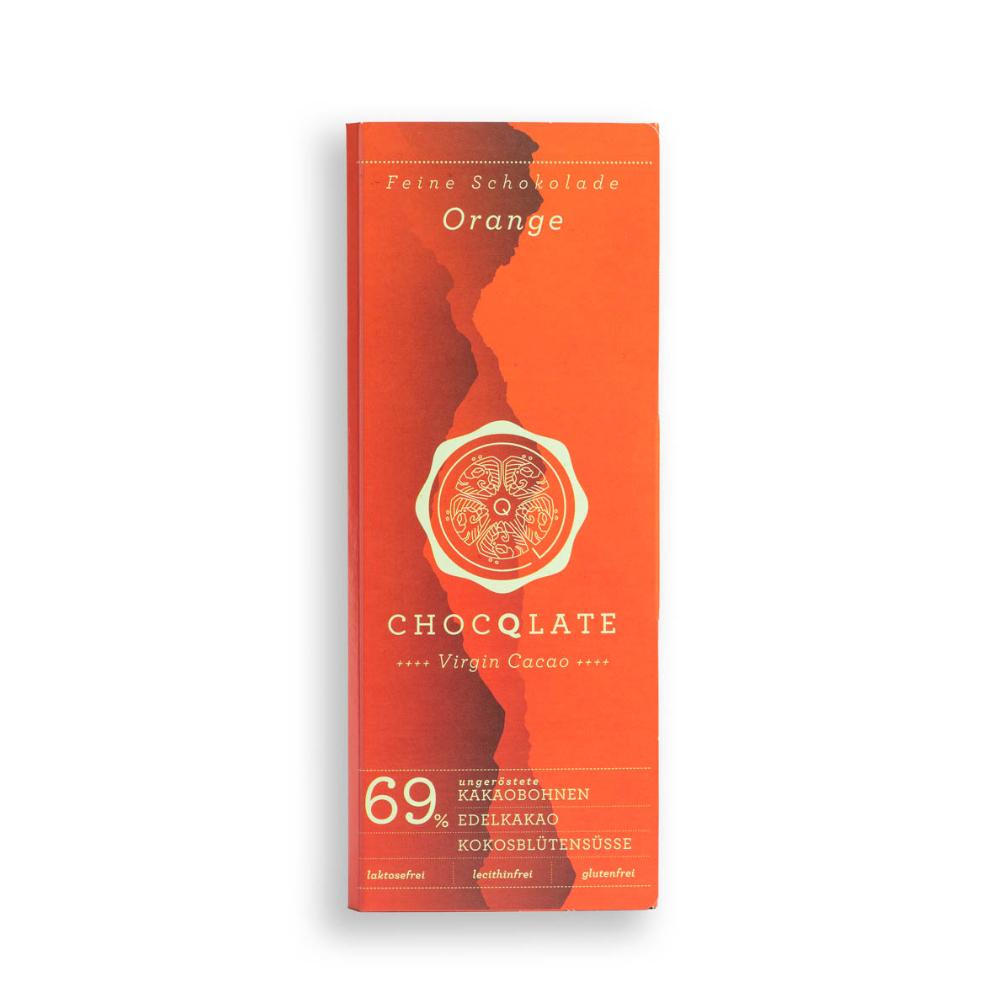 Virgin Cacao Schokolade Orange BIO