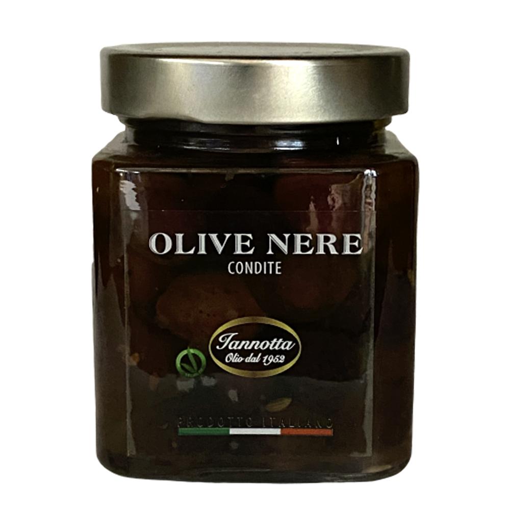 Gewürzte schwarze Oliven