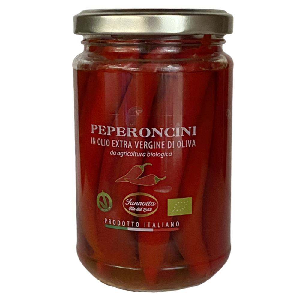 Chili in Olivenöl eingelegt